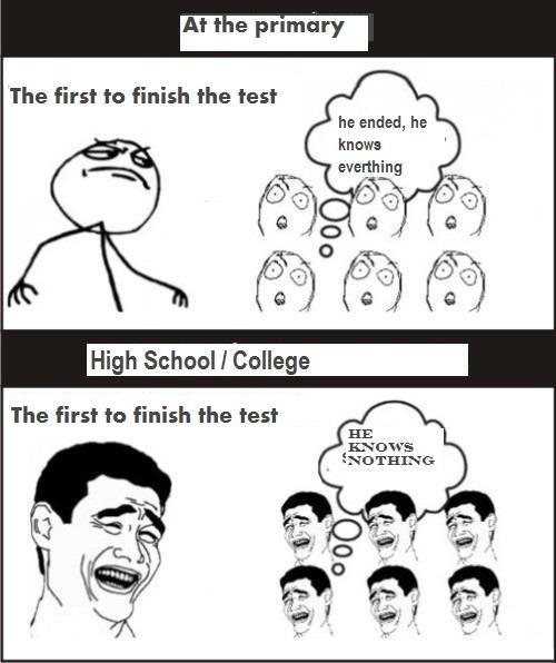 Test - Primary School vs Highschool - College Funs HD Wallpaper