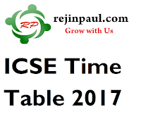 ICSE Time Table 2017 Class 10