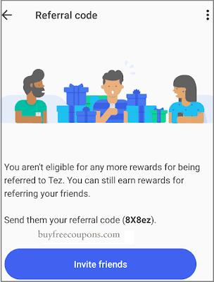 tez referral code