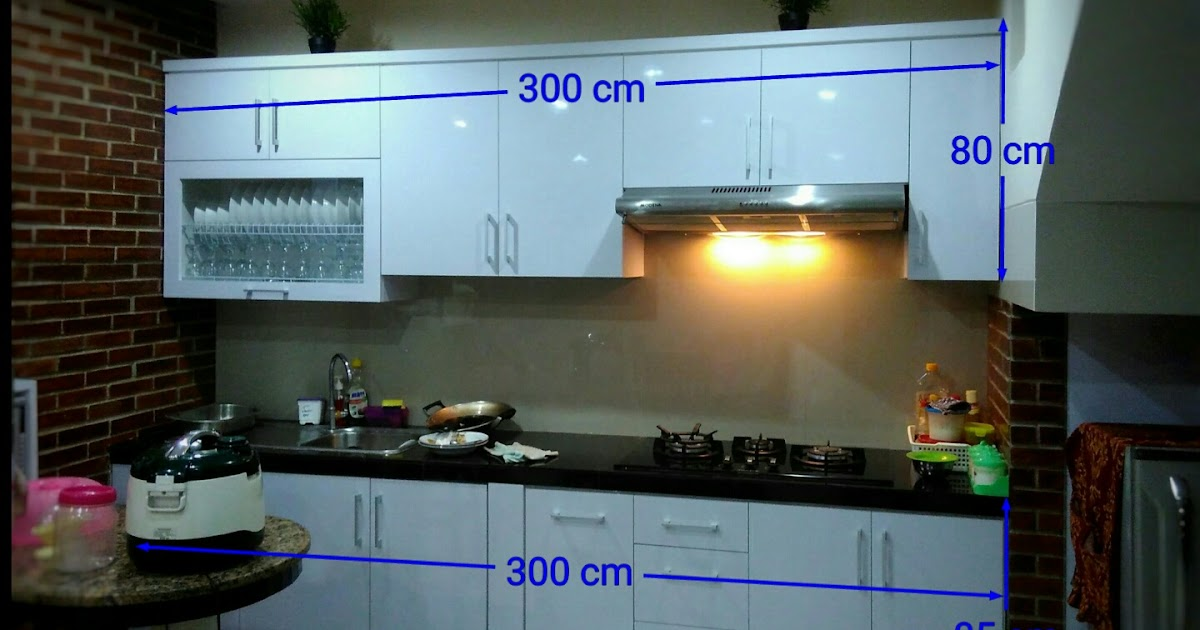 Cara perhitungan harga kitchen set minimalis dan cara