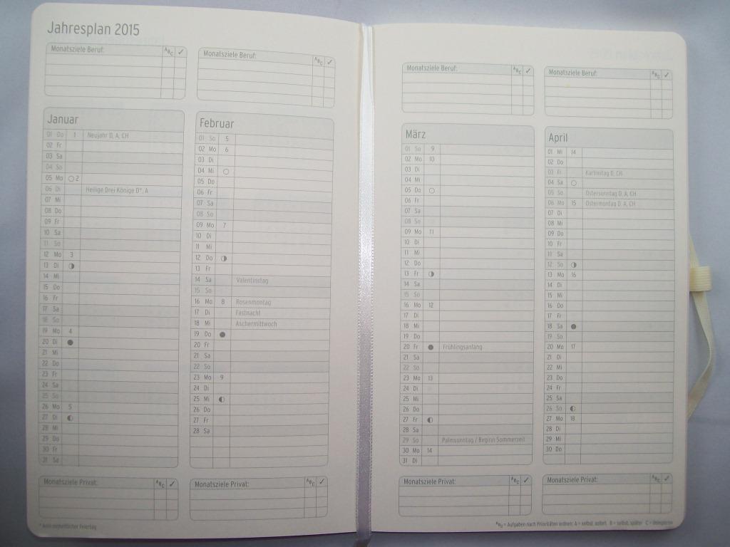 buchkalender jede jahreszeit