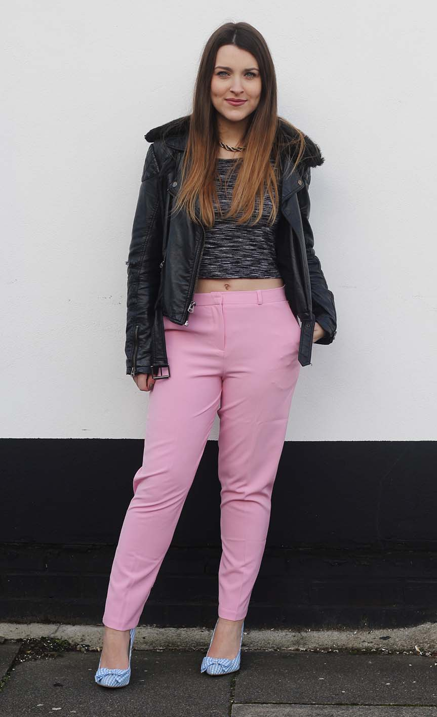 pink pants trousers
