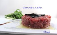 Carne cruda a la Albese