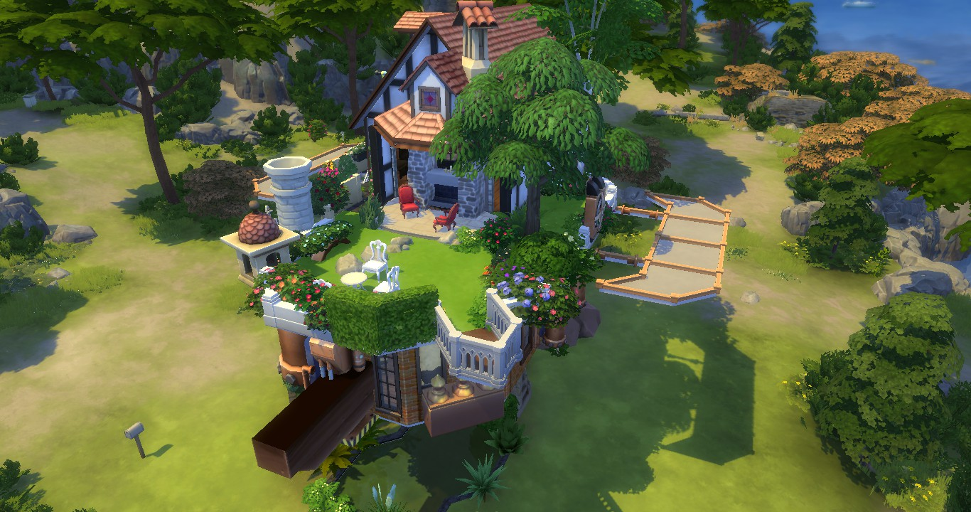 Howls Moving Castle บ้าน the sims 4