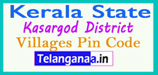 Kasargod District Pin Codes in Kerala State