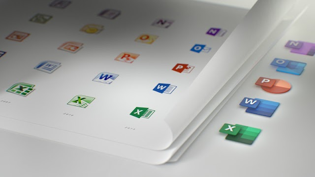 The new Microsoft Office icons are part of a larger design process