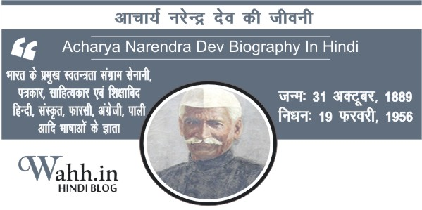 Acharya-Narendra-Dev-Biography-In-Hindi