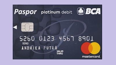 Kartu atm paspor platinum bca