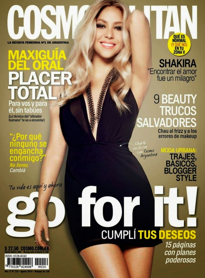Shakira for Cosmopolitan Argentina Magazine (August 2014) Issue
