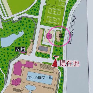 王仁公園 藤棚の場所