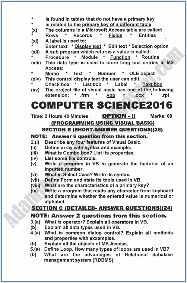 xii-computer-science-past-year-paper-2016