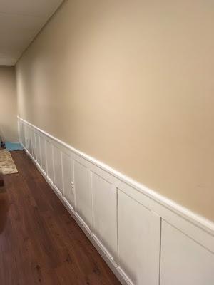 basement faux rail and stile wainscot