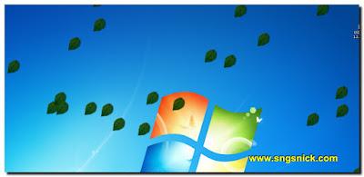 DesktopSnowOK 3.06 - Листья