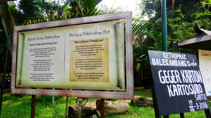 Sejarah Taman Balekambang