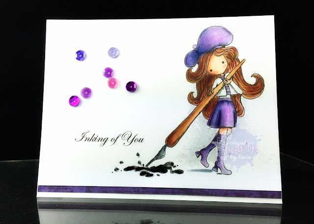 Tiddly Inks, Kecia Waters, Copic markers, Prismacolor pencils