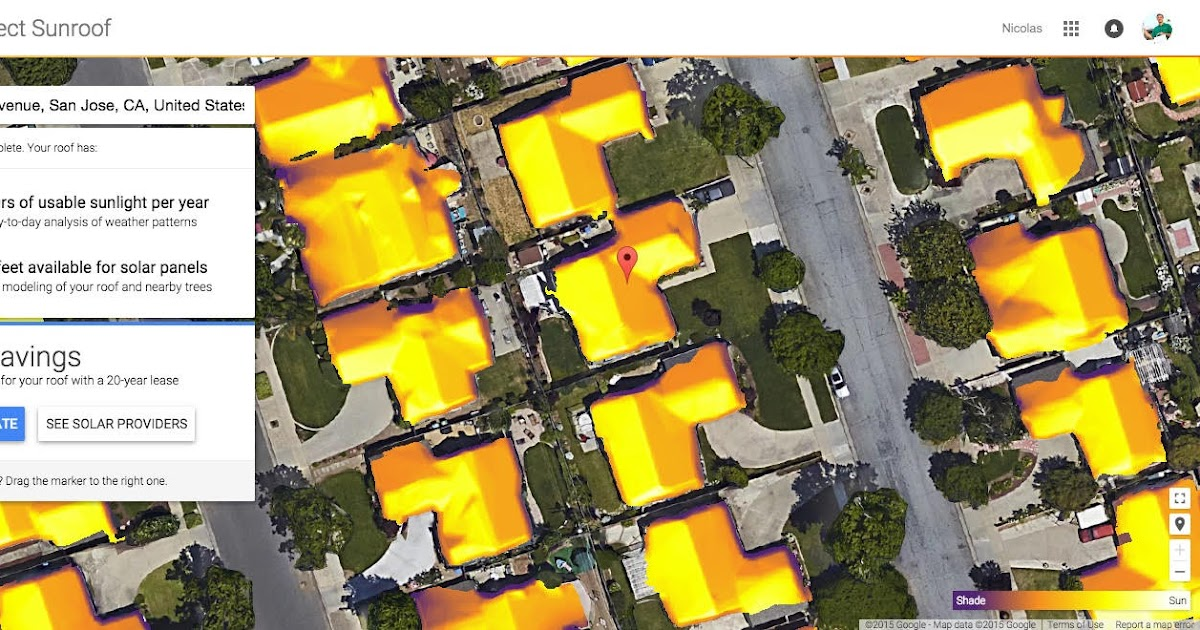 Google Solar Map >> Google Green Blog Project Sunroof Mapping The Planet S Solar