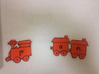 train blending word famlies