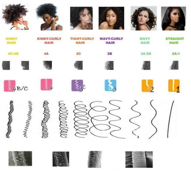 natural hair chart. 4a 4b 4c