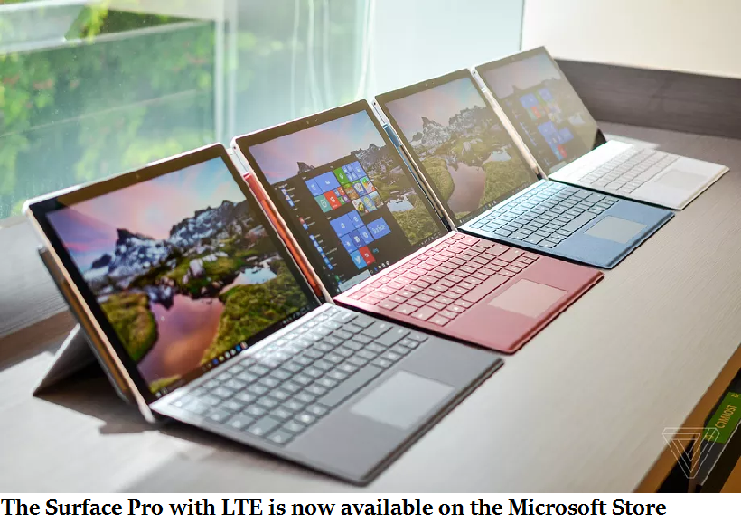 The Surface Pro with LTE is now available on the Microsoft Store