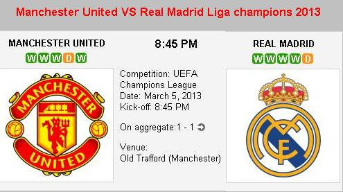 Jadwal Real Madrid Vs Mu