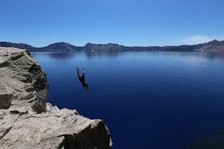 dive off a cliff