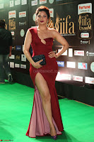 Natasha Nebasha in a Leg Slit Sleeveless Stunning Red Gown at IIFA Utsavam Awards 2017 070.JPG