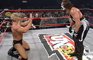 WCW Uncensored 2000 - Lex Luger backs off from Sting