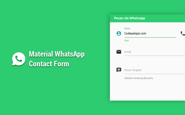 Cara Membuat Material WhatsApp Contact Form