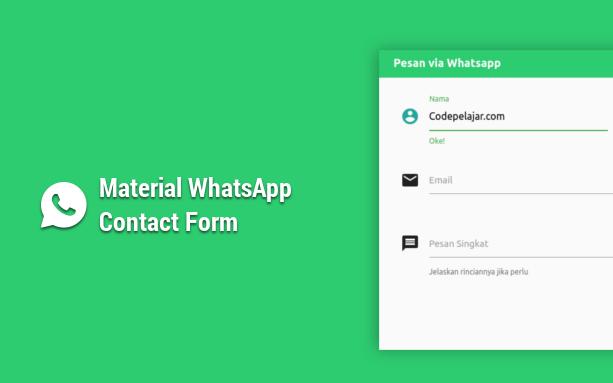 Cara Membuat Material WhatsApp Contact Form