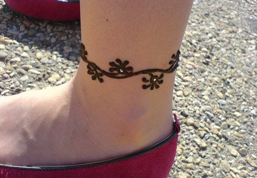 Mehendi Tattoo for Ankle