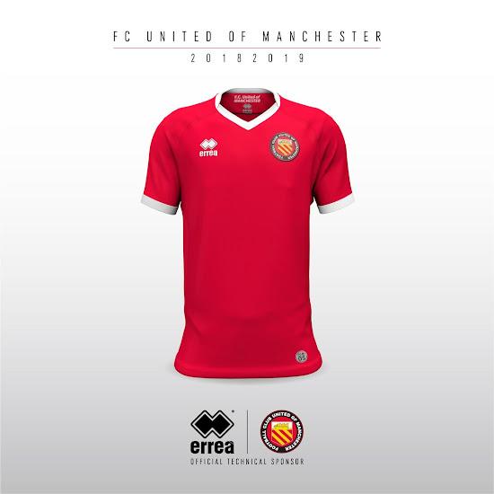 Footyheadlines Manchester United 2018 19 Season Home Kit: Errea FC United Of Manchester 18-19 Home Kit Released