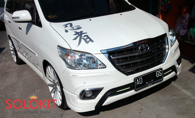 bodykit all new kijang innova grand avanza 2017 silver luxury 2014 solo plastik
