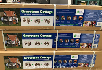 Costco 1650028 - Playing house is better with the Cedar Summit Greystone Cottage Playhouse