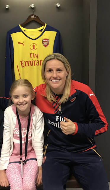 Arsenal footballer Kelly Smith #WeCanPlay dressing rooms at Wembley