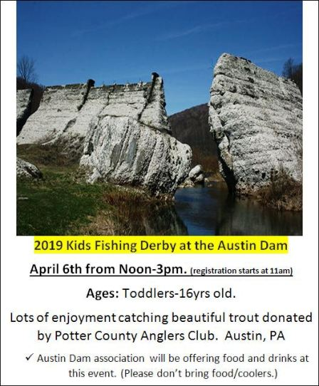 4-6 Kids Fishing Derby @ Austin Dam
