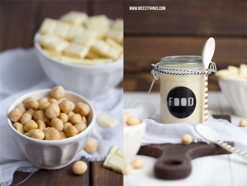 weiße Schokolade Aufstrich Rezept mit Macadamia Nüssen