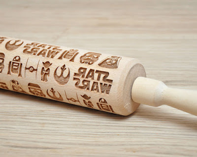 Starwars pattern Embossed Rollingpin