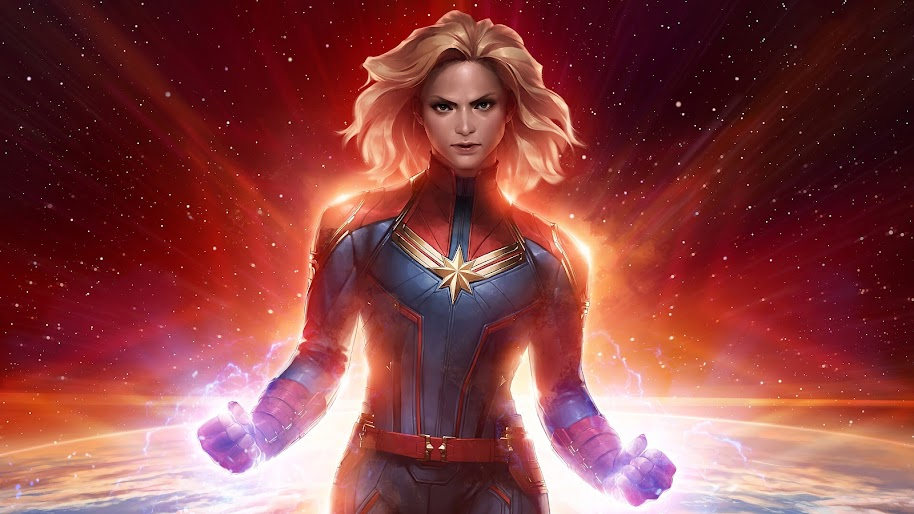 Captain Marvel Movie Comics Art 4k Wallpaper 3