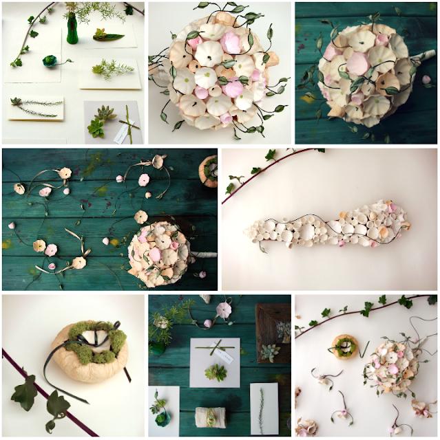 matrimonio green a tema botanico organico: bouquet, centrotavola, decorazioni