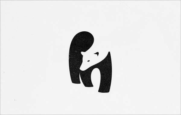 contoh logo negative space
