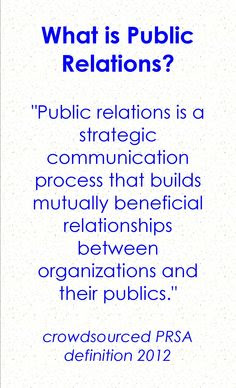 Definition of Public Relations