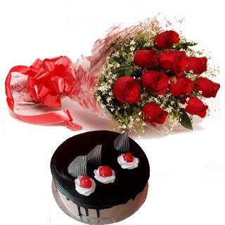 cake & flower combo