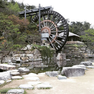 Gran molino de agua coreano en Gyeongju