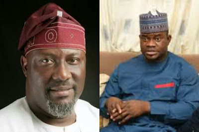 Photo of Dino Melaye and Governor Yahaya Bello
