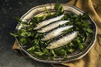 čerstvé mořské sardinky