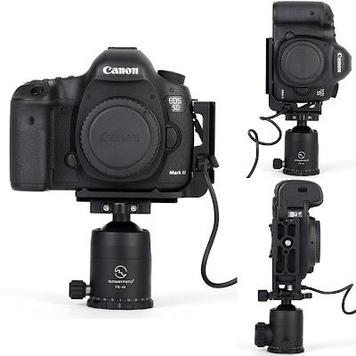 Sunwayfoto PCL-5DIII L Bracket on Canon 5D MK III landscape/portrait w rem release