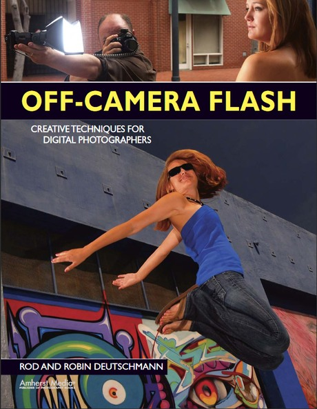 Porta libro: off-camera flash
