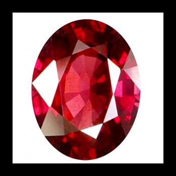 Đá Ruby mài facet hình oval