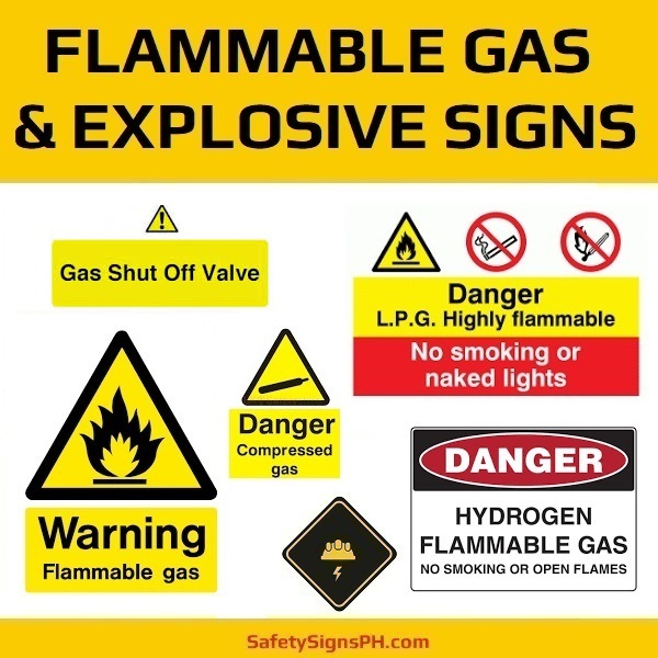 Flammable Gas & Explosive Signs Philippines