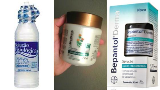 hidratacao cabelo soro fisiologico bepantol